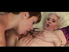 Granny added to her Girlfriend Have a Good Rendered helpless