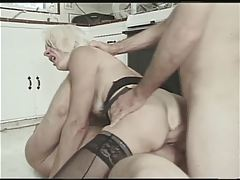 Flaxen-haired Little Titted Granny Fucks trilogy
