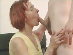 Redhead Mature in Stockings Fucks