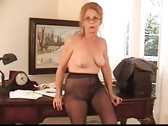 Hairy Insistent Granny in Pantyhose