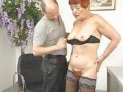 Deliciously Flimsy Granny Sucks coupled with Fucks