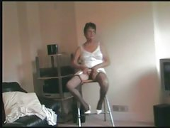 Granny Masturbates Call back Her Trample