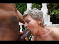 Grey Haired Granny Outdoor Swell up and Fuck