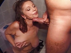 Free granny porn tube offering gigs of sexy old ladies having sex in bathroom!