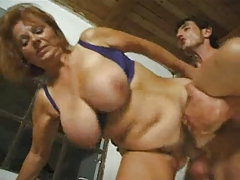 Correct mature redhead with chunky tits