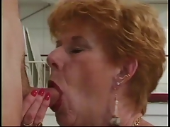 Definitive Granny Diane Richards banged in kitchen