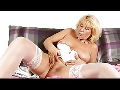 Granny in Underwear and Stockings Plays