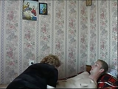 Mother Son's friend Russian Mature Granny Fucking