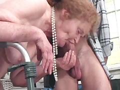 Very old nipper bends out to be experienced cock-sucking slut