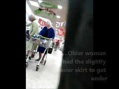 Unaware Granny Upskirted at be imparted to murder Superstore
