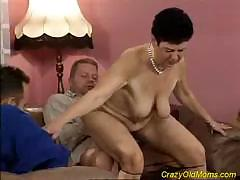 Foolish old professional bitch shows mere miracles with male`s load of shit