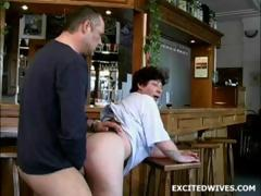 53 year age-old bar guv fucked by customer