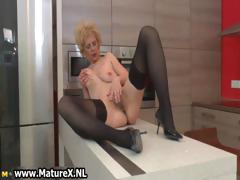 Simmering doyen lady in sexy black stockings part6