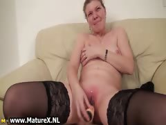 Older housewive is licking big