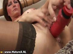 Dirty old mother in sexy lingerie fucking part5
