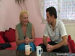 Granny slut is picked forth added to fucked