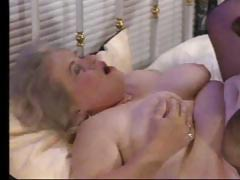 Naughty plump granny gets it at bottom with a much younger hung dude