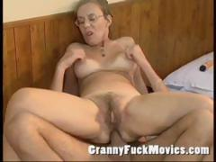 Old granny fucked hard nearly her hairy bore