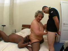 Nasty French obese mature, Carole, gets interracial fucked