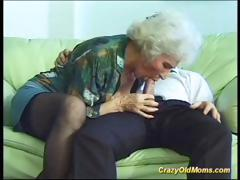 Farcical old mom gets fucked hard
