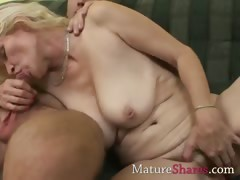 Layman MILF sucking pornstar dick