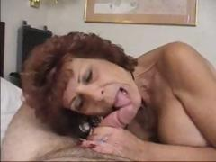 Mature pitch-dark takes bushwa in mouth coupled with then sits to get plowed