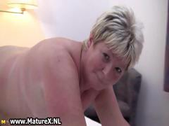 Chubby mature blonde is lickerish with an increment of plays part2