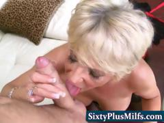 experienced GILF shacking up added to sucking
