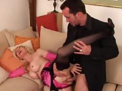 The man blonde granny sucks cock added to gets her  old pussy fucked