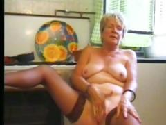 Granny Thither Stockings Plays Thither The Kitchen