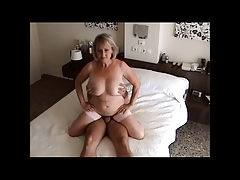 Busty granny riding flannel