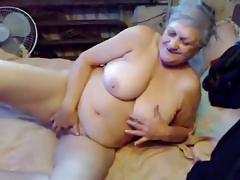 75yr ancient Busty Granny Finger Fucks say no to Horny Cunt