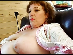 FRENCH MATURE n52a anal bbw dam threesome with 2 younger men