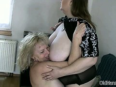 Horny granny with big bowels loves having part5