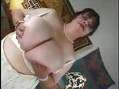 Granny everywhere huge massive colossal boobs