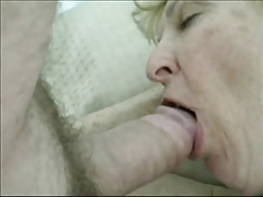 Grannie Blonde fuck in Amateur sheet