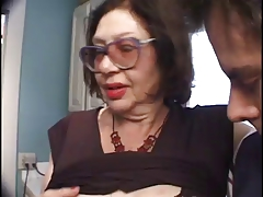Slutty Age-old Big Bertha Gives A Blowjob To A Immutable Cock