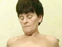 Russian granny fucking hard by young guy