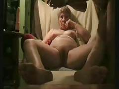 Having fun surrounding my old wife. Amateur