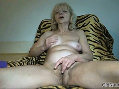Hellacious old woman goes crazy rubbing part4