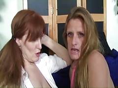 Saggy Mamma Matured TJ And Redhead Granny StrapOn Session