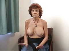 Granny with fake tits.