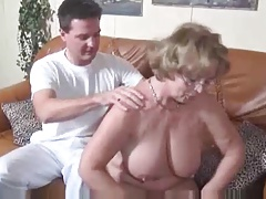 Spectacular German Of age fucks Young man in couch