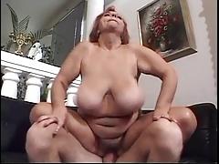 Soft Redhead BBW Titted Granny Mathilda