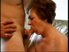 Granny Sucking Load of shit and Taking Load Face