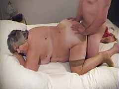 BBW granny doggy together with facial