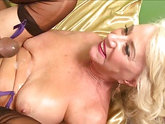 Beauteous granny gets her irritant pounded by BBC