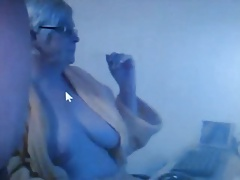 Webcam granny with will not hear of beau