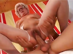 Titillating Blunt Haired Granny At hand Hairy Pussy