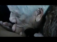 Granny Marg 90 age old sucking dick at a difficulty carwash